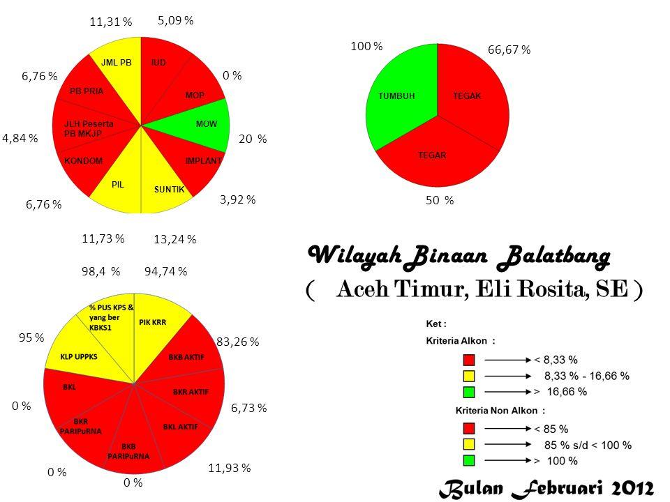 Wilayah Binaan Balatbang ( Aceh Timur, Eli Rosita, SE )