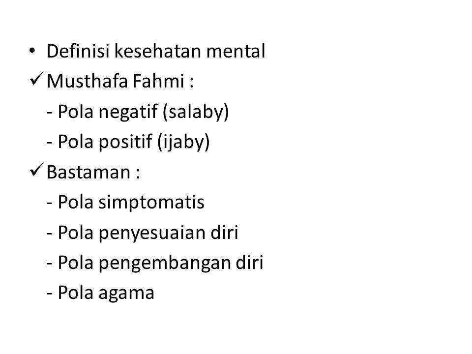 Definisi kesehatan mental