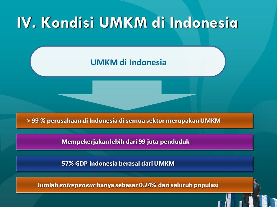 IV. Kondisi UMKM di Indonesia