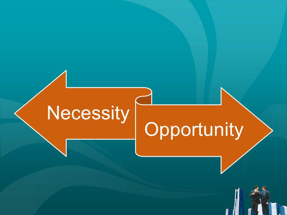 Necessity Opportunity Penjelasan terdapat pada GEM 2013