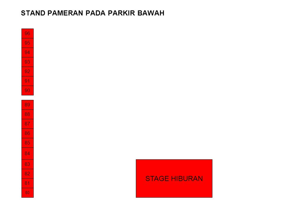 STAND PAMERAN PADA PARKIR BAWAH