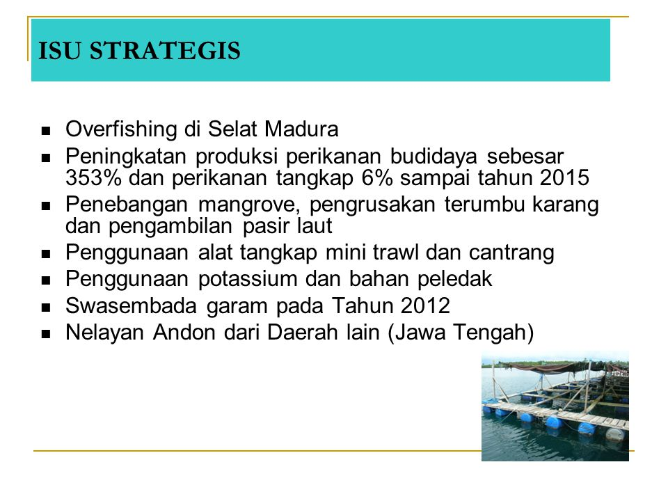 ISU STRATEGIS Overfishing di Selat Madura