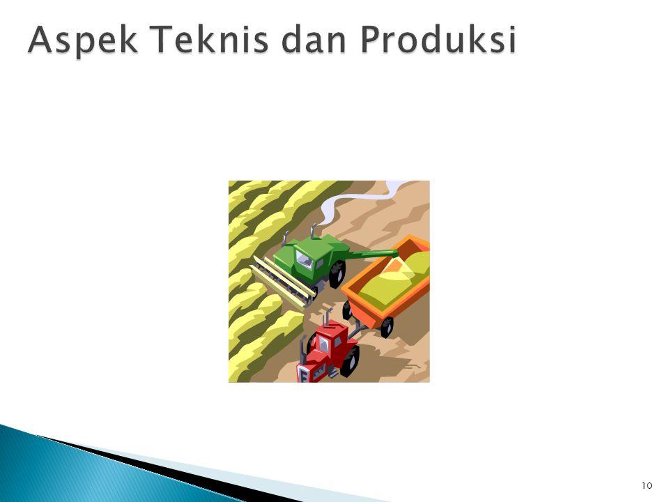 Aspek Teknis dan Produksi