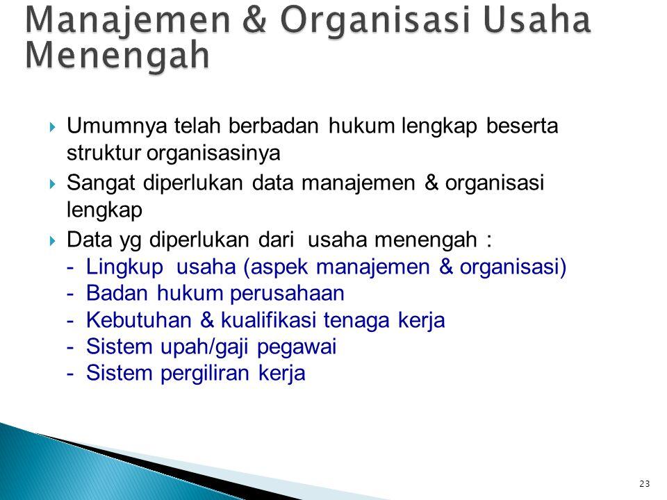 Manajemen & Organisasi Usaha Menengah