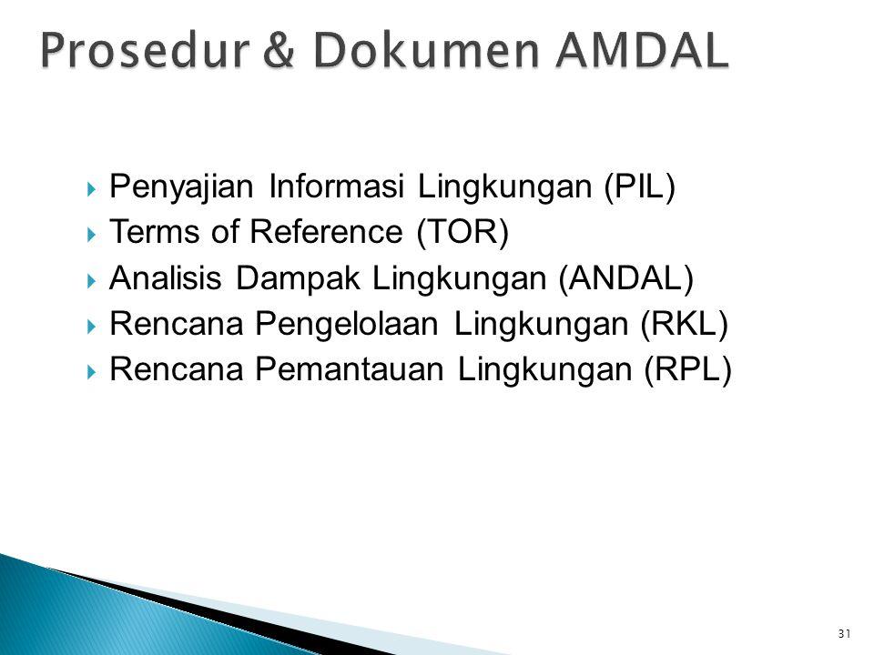Prosedur & Dokumen AMDAL