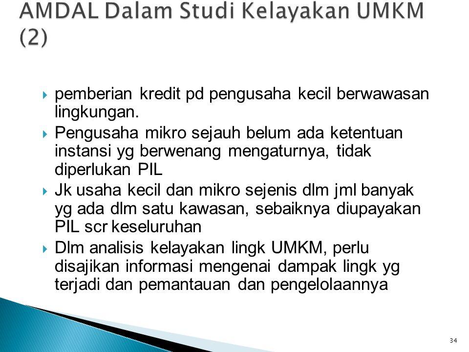 AMDAL Dalam Studi Kelayakan UMKM (2)