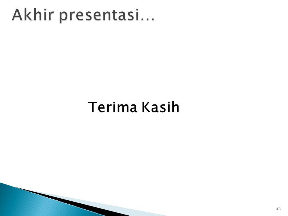 Akhir presentasi… Terima Kasih