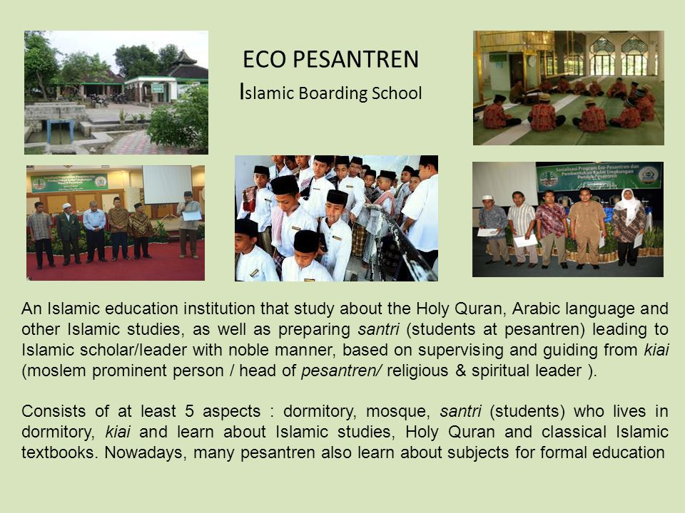 ECO PESANTREN Islamic Boarding School