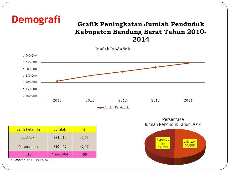 Demografi Grafik Peningkatan Jumlah Penduduk