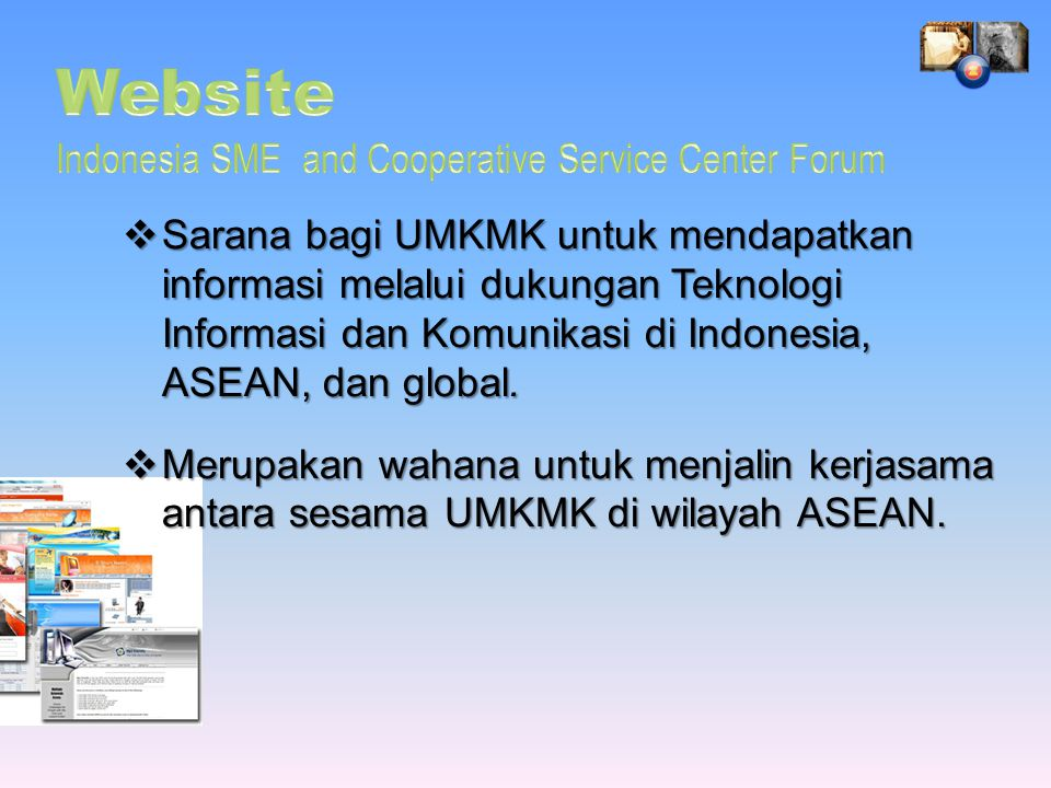 Website Indonesia SME and Cooperative Service Center Forum
