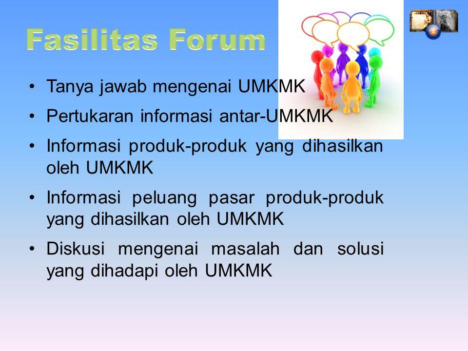 Fasilitas Forum Tanya jawab mengenai UMKMK