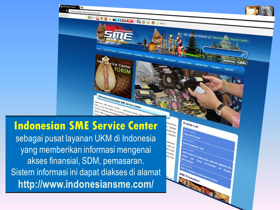 akses finansial, SDM, pemasaran.