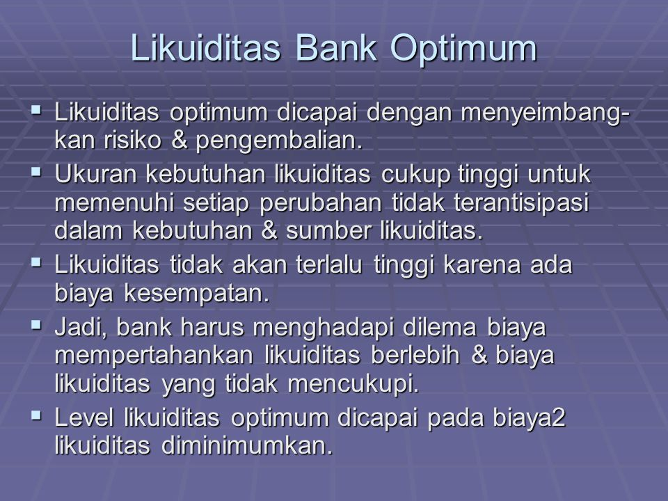 Likuiditas Bank Optimum