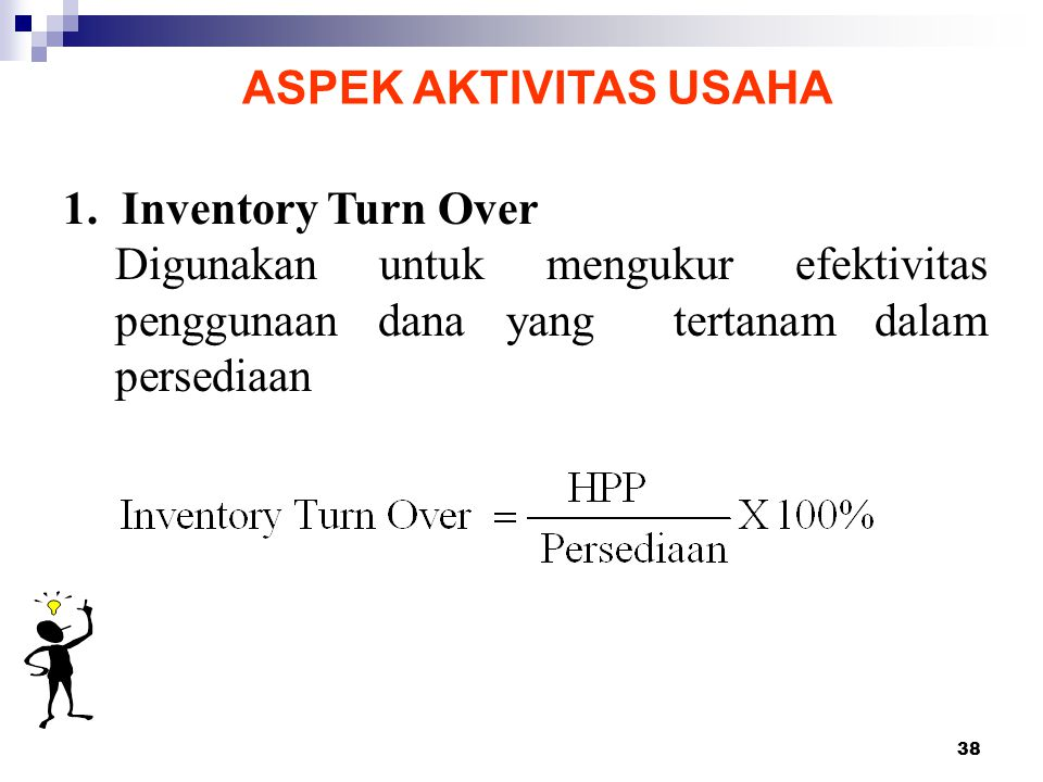 ASPEK AKTIVITAS USAHA 1. Inventory Turn Over.