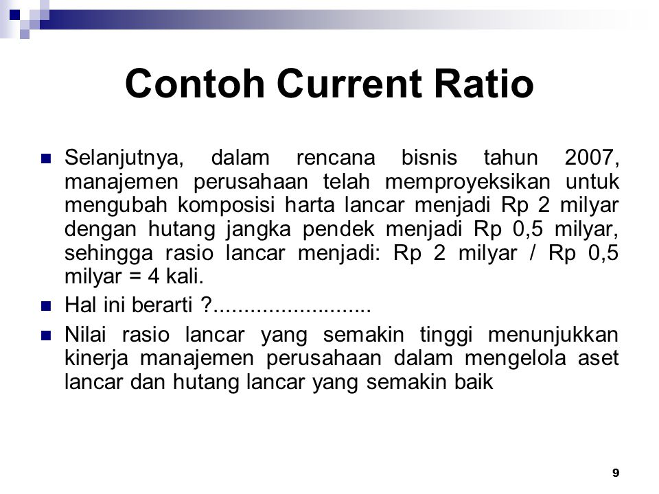 Contoh Current Ratio