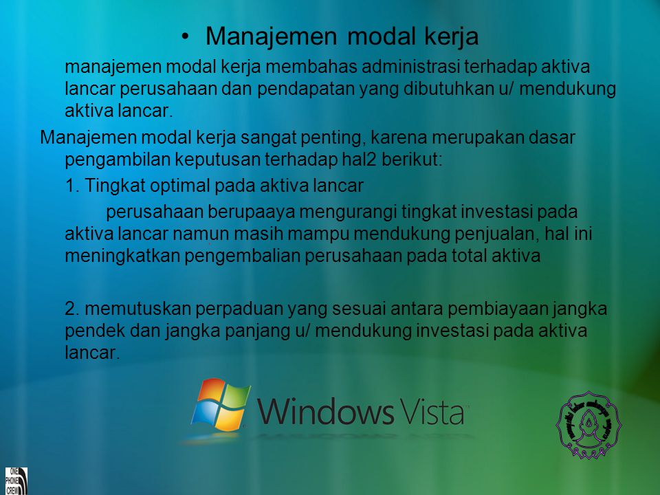 Manajemen modal kerja
