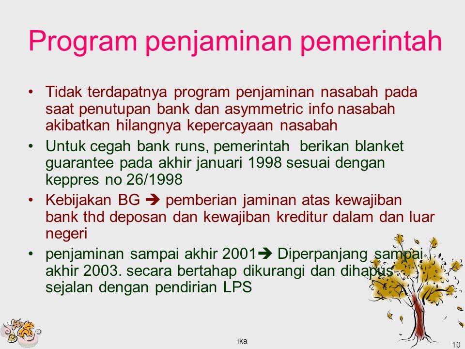Program penjaminan pemerintah
