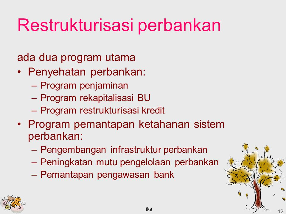 Restrukturisasi perbankan