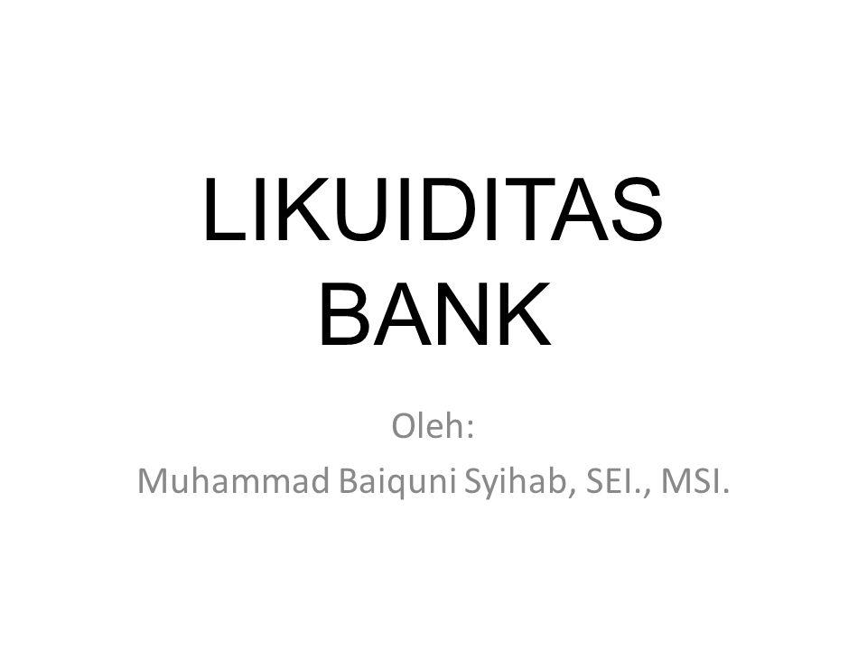 Oleh: Muhammad Baiquni Syihab, SEI., MSI.
