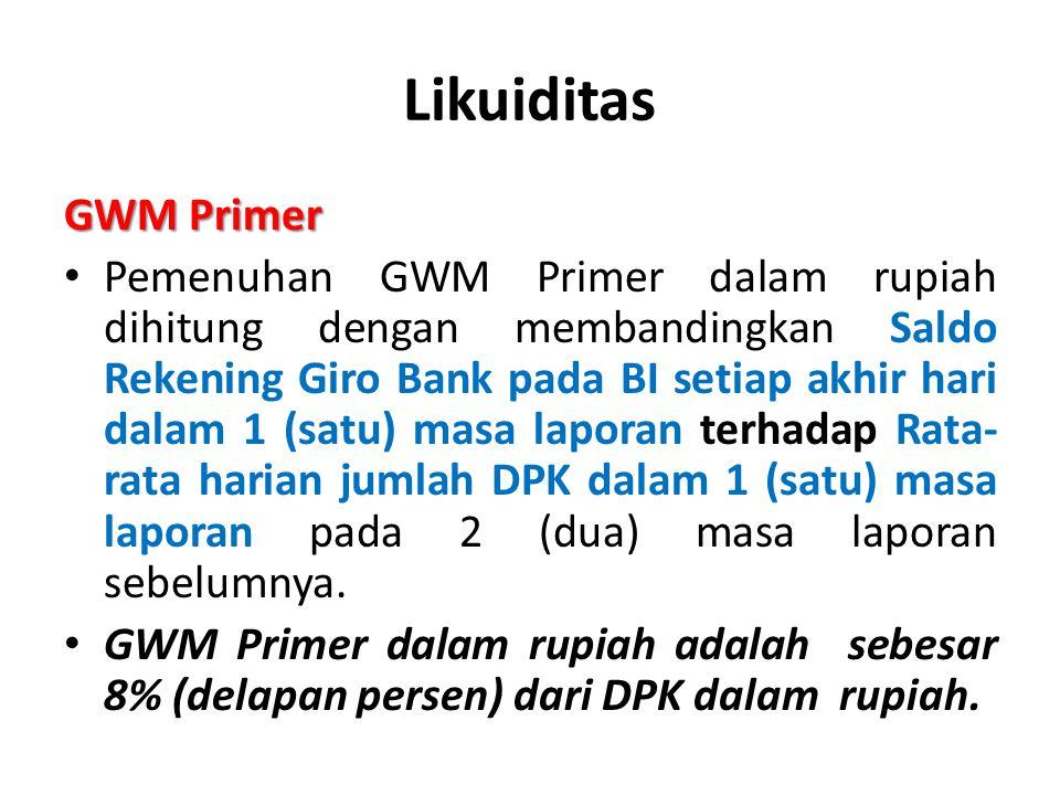 Likuiditas GWM Primer.