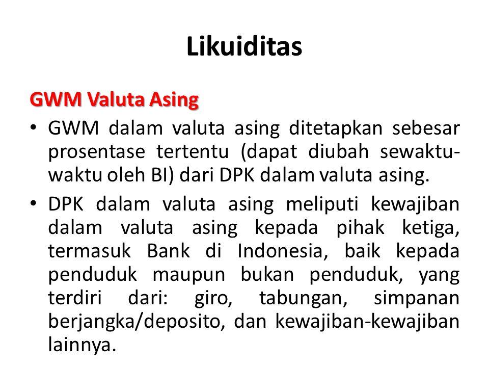 Likuiditas GWM Valuta Asing