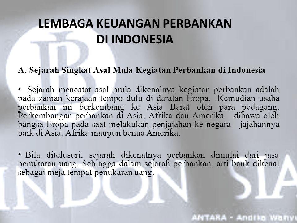 LEMBAGA KEUANGAN PERBANKAN DI INDONESIA