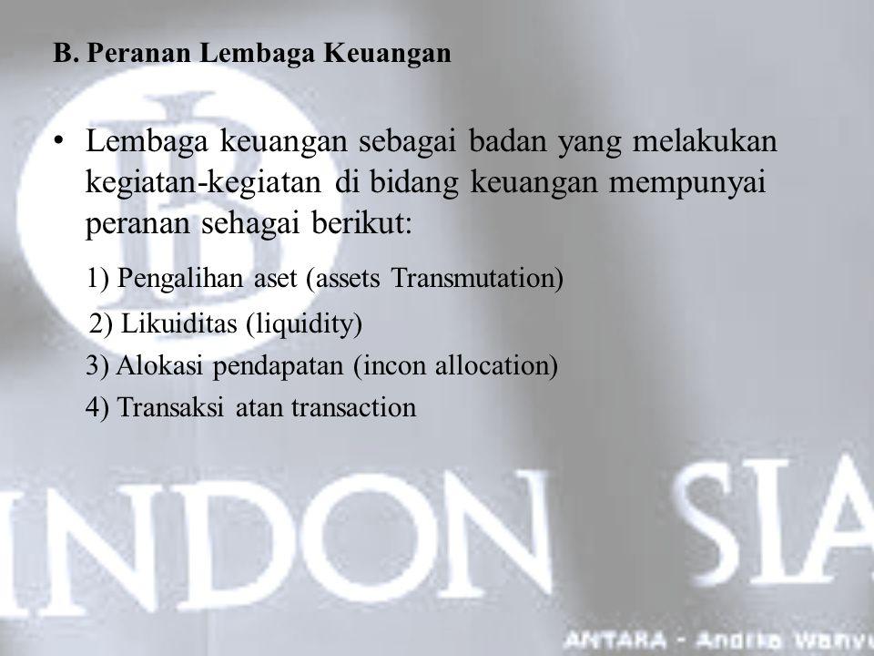 1) Pengalihan aset (assets Transmutation)