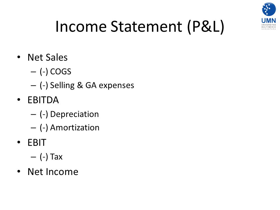 Income Statement (P&L)