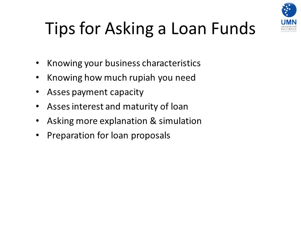 Tips for Asking a Loan Funds