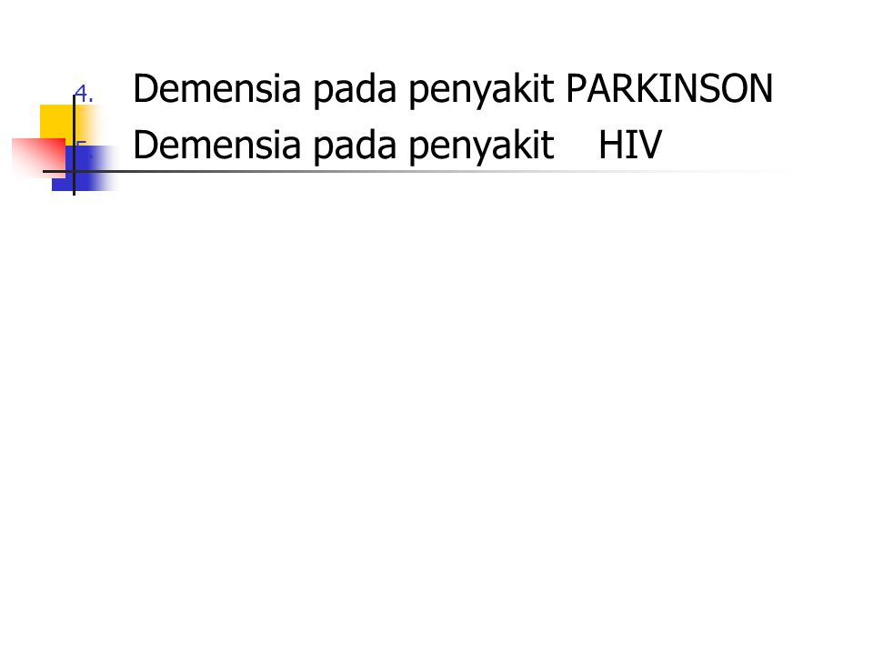Demensia pada penyakit PARKINSON