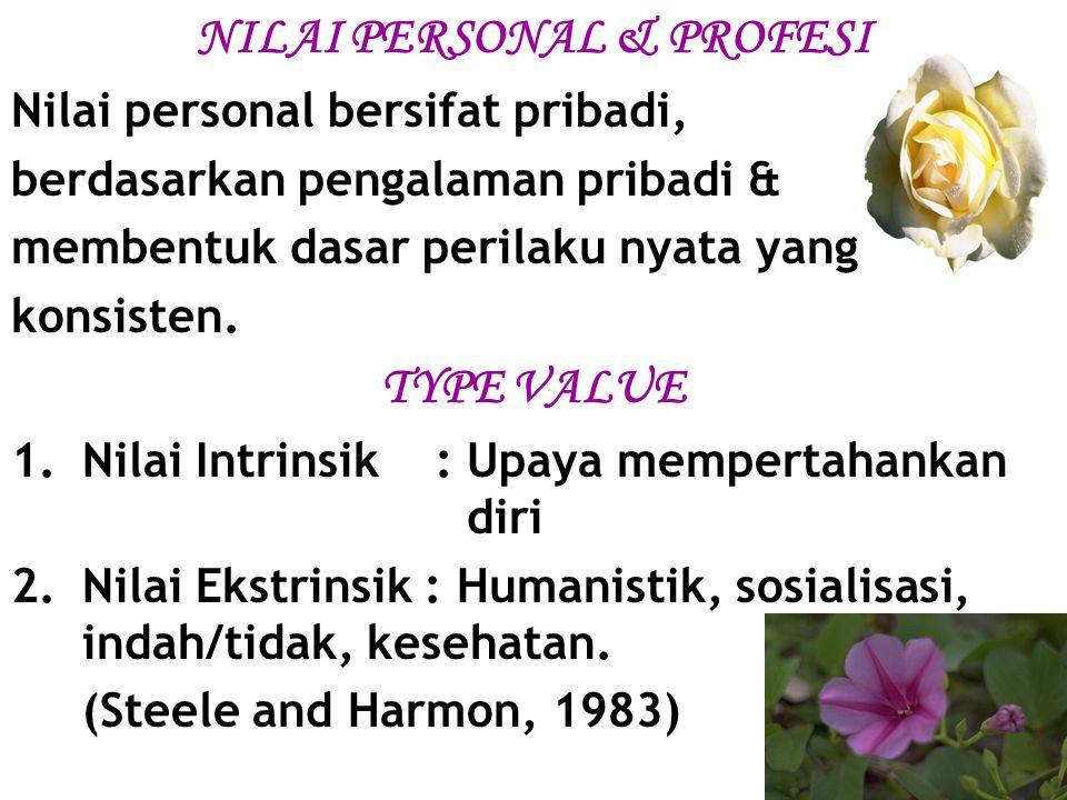 NILAI PERSONAL & PROFESI