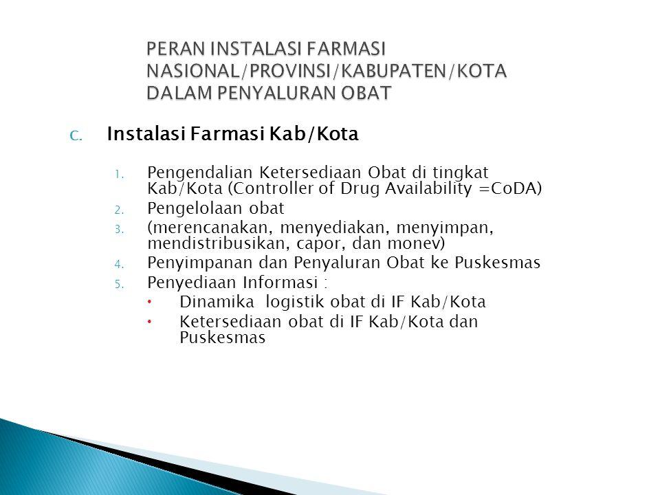 Instalasi Farmasi Kab/Kota