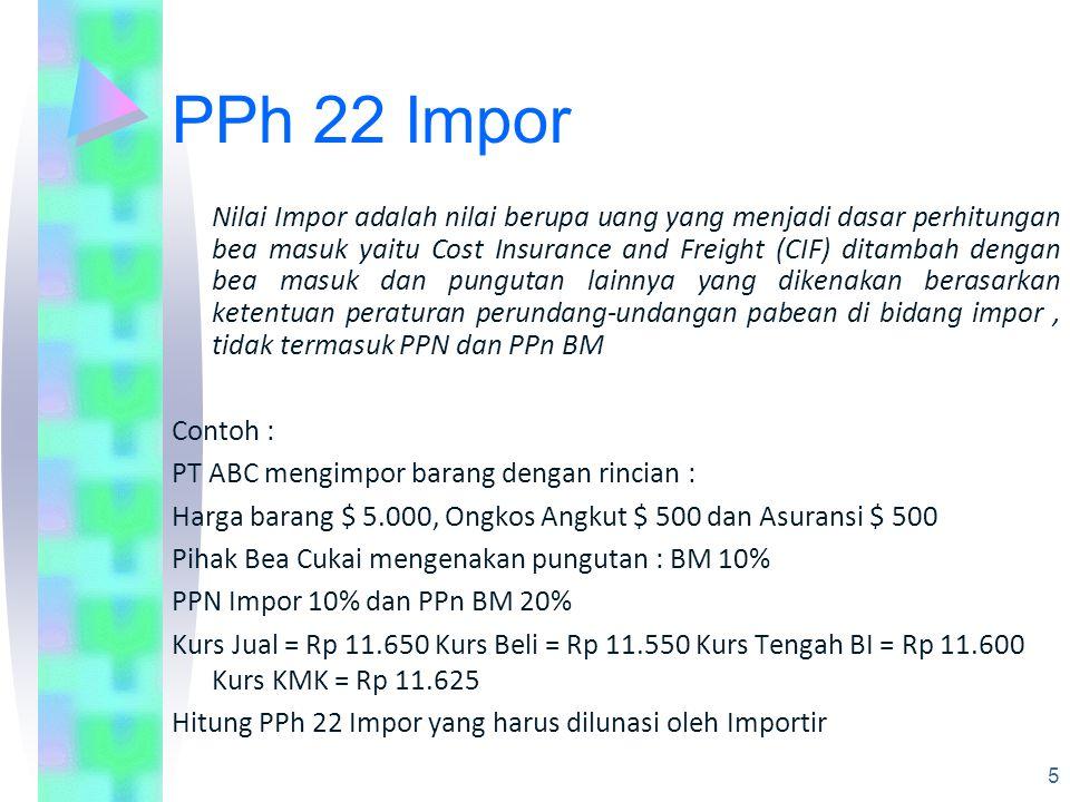 PPh 22 Impor