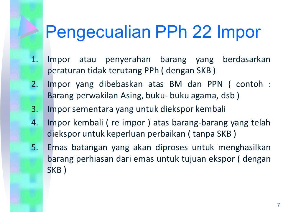 Pengecualian PPh 22 Impor