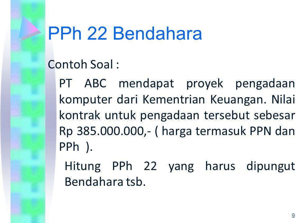 PPh 22 Bendahara