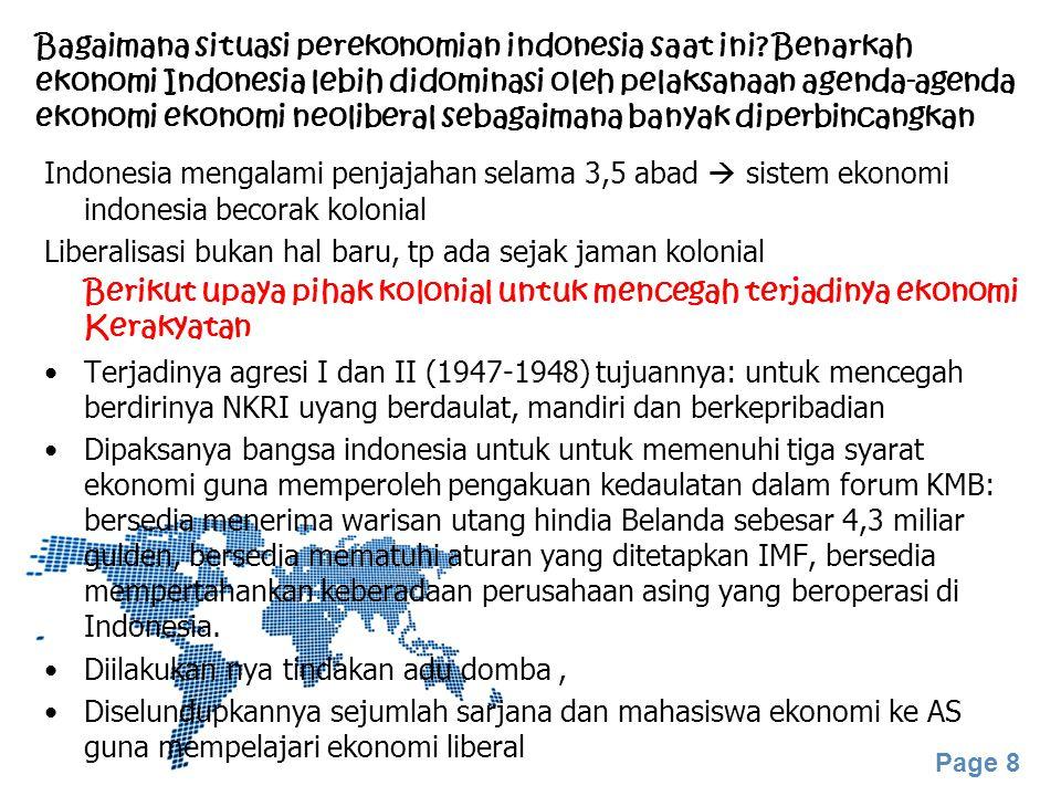 Bagaimana situasi perekonomian indonesia saat ini