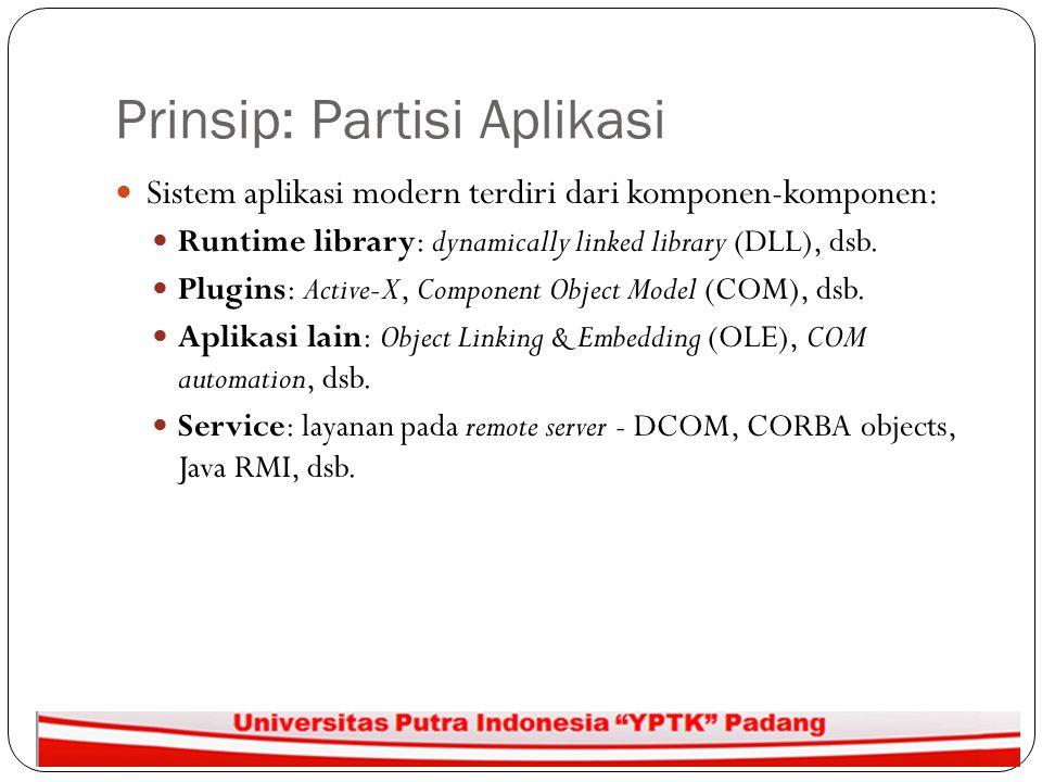 Prinsip: Partisi Aplikasi