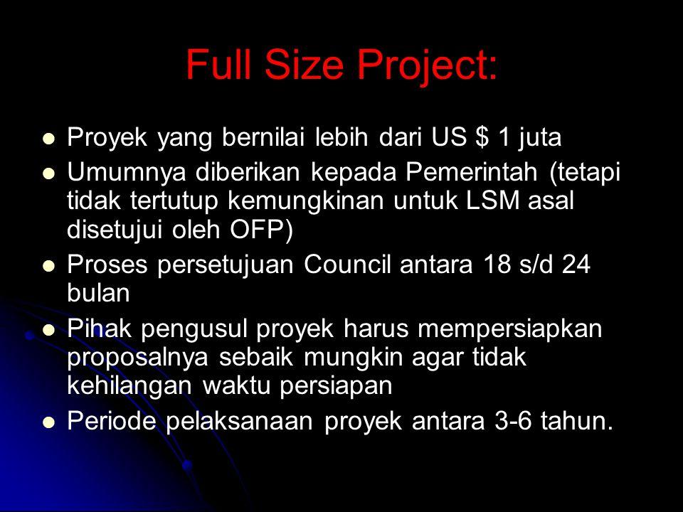 Full Size Project: Proyek yang bernilai lebih dari US $ 1 juta