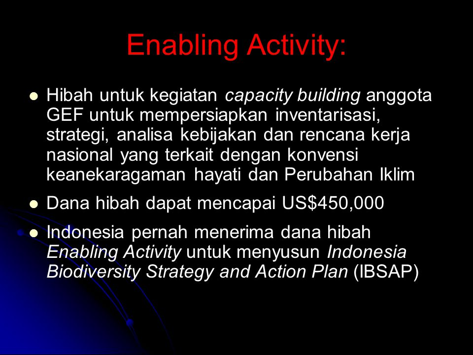 Enabling Activity: