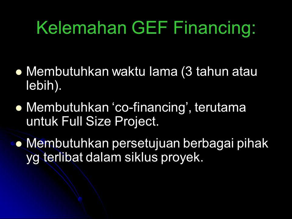 Kelemahan GEF Financing:
