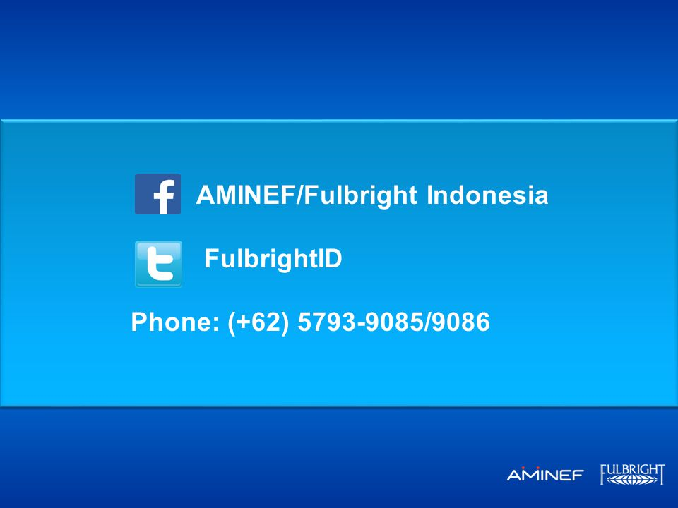 AMINEF/Fulbright Indonesia