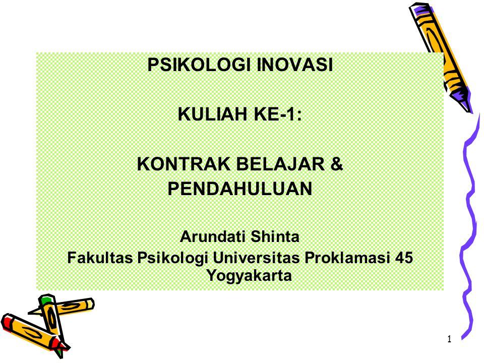 Fakultas Psikologi Universitas Proklamasi 45 Yogyakarta