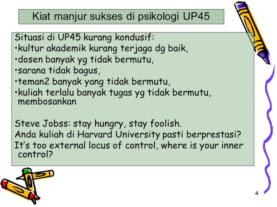 Kiat manjur sukses di psikologi UP45