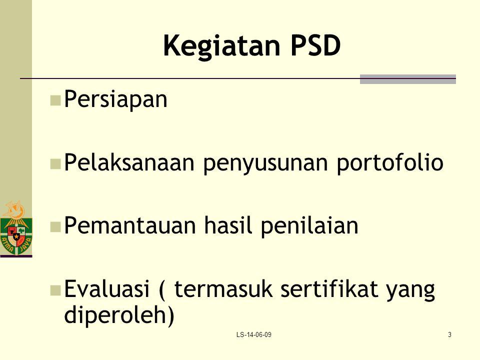 Kegiatan PSD Persiapan Pelaksanaan penyusunan portofolio