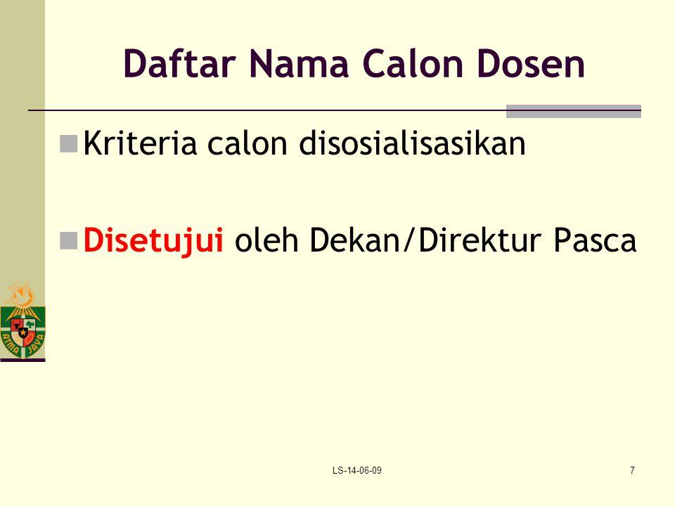 Daftar Nama Calon Dosen