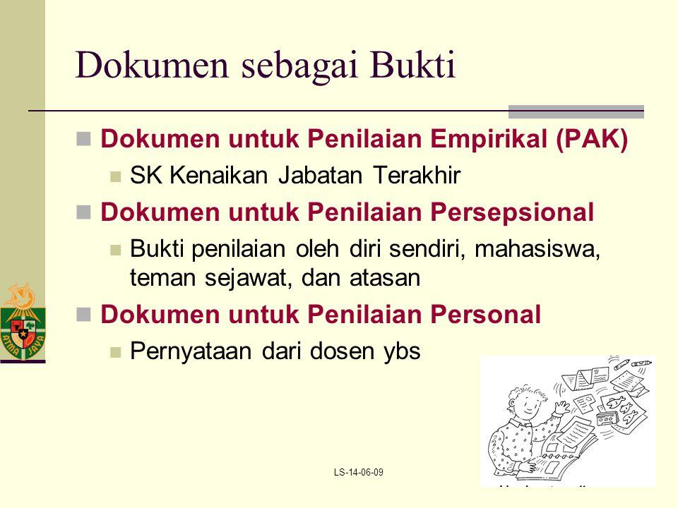 Dokumen sebagai Bukti Dokumen untuk Penilaian Empirikal (PAK)