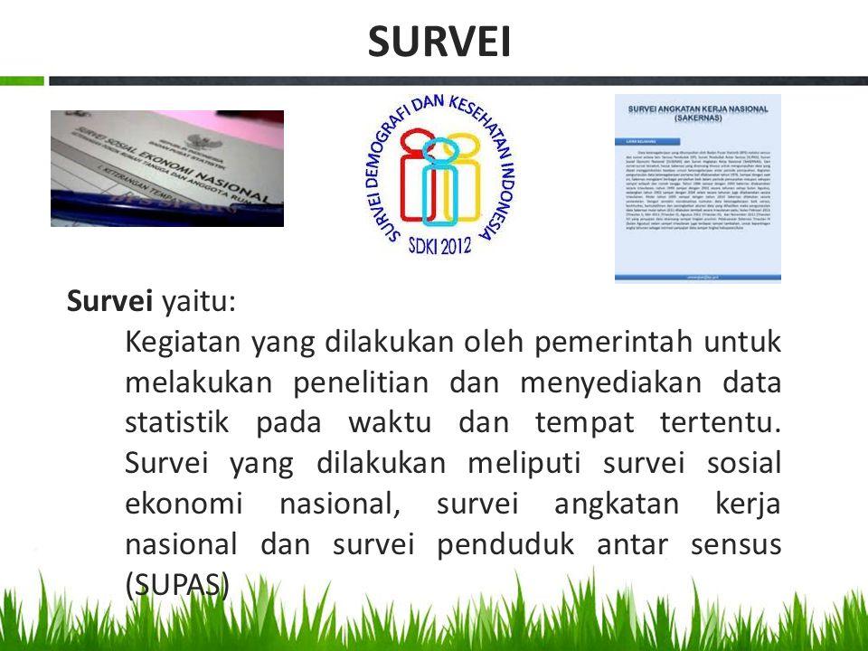 SURVEI Survei yaitu: