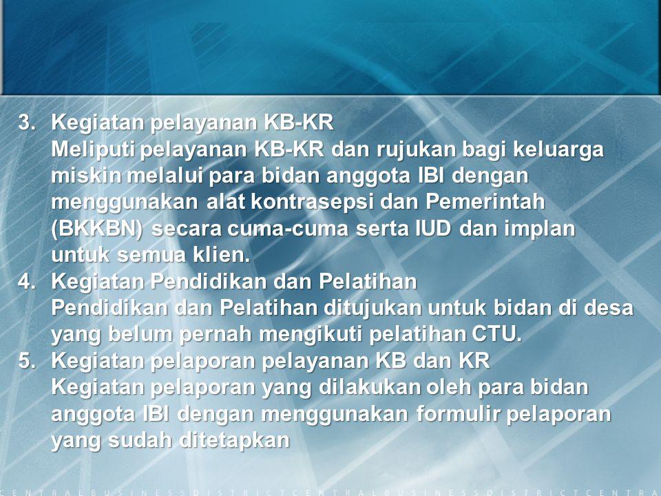 3. Kegiatan pelayanan KB-KR