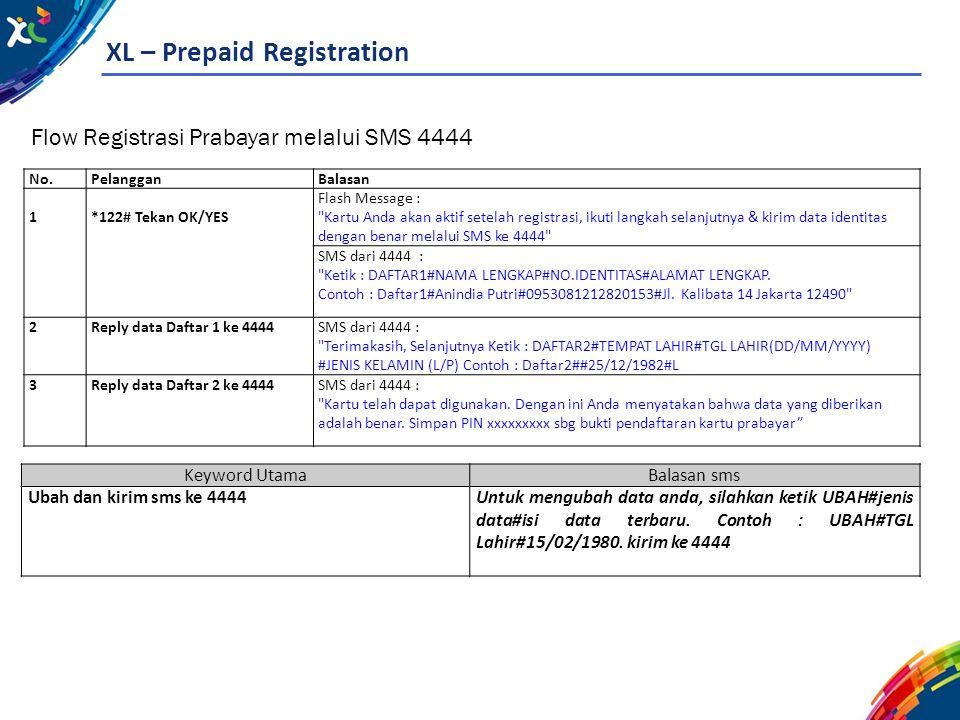 XL – Prepaid Registration