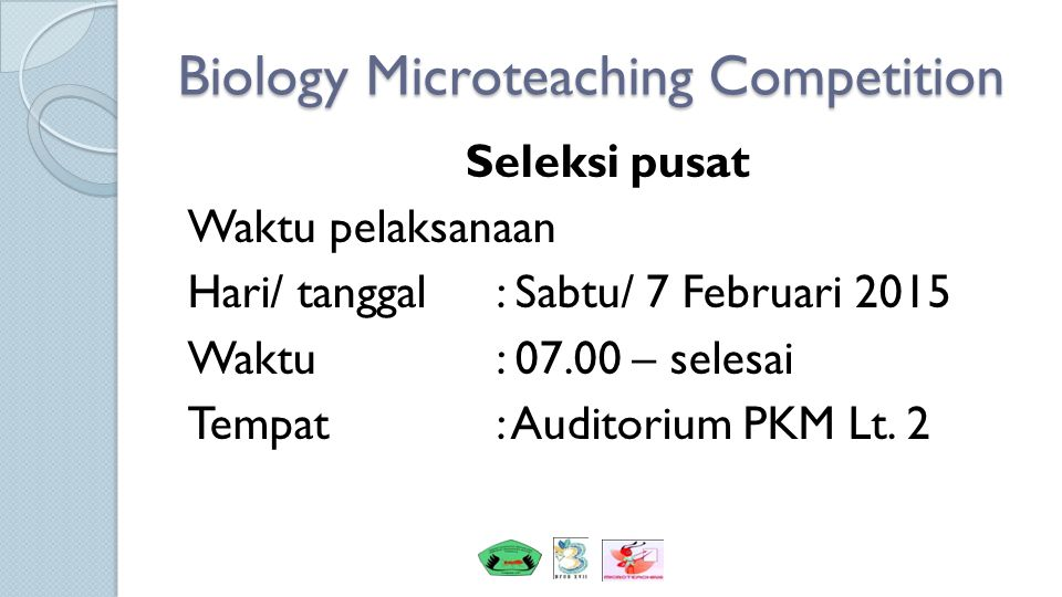 Biology Microteaching Competition